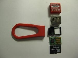 MicroSDのチップ割れ