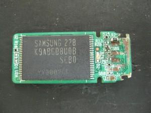 USBが折れたメモリ